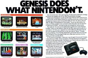 Marketing agressivo da Sega na época.