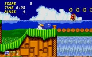 Sonic e Tails arrepiando no Spin Dash. Cuidem-se, Badnicks!