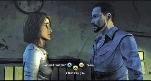 Decisões complicadas: o grande desafio do jogo baseado na série The Walking Dead. E quase todas possuem curto limite de tempo para decidir. É de deixar com o coração na mão.
