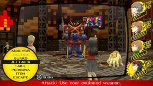 Batalha do jogo, aguardando comando para enfrentar um... robô gigante de Super Sentai?!?!?!