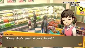 A adorável Nanako cantando o tema do grande mercado da cidade. Não tem como não gostar desta personagem!