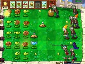 """Plants vs Zombies: um jogo que exige no mínimo um pouco de estratégia dos jogadores. Mas os tais """"hardcores"""" acham que tem """"menos peso"""" que muita coisa descerebrada que eles jogam."""