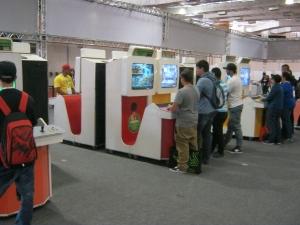 Arcades estavam presentes na feira. E o melhor de tudo: não precisava comprar ficha!