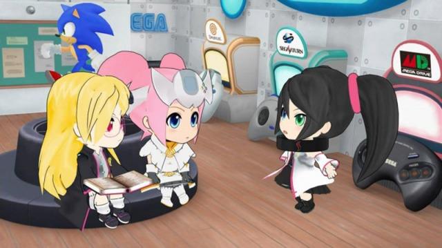 As três meninas e diversos detalhes bem conhecidos dos jogadores ao fundo.
