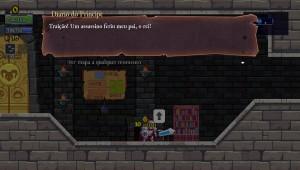 Os arquivos do Diário do Príncipe podem ser encontrados ao londo da exploração e explicam a história do jogo.