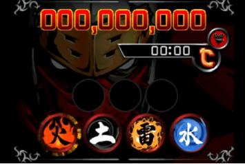 Segunda tela do portátil mostra as magias para serem escolhidas por toque e mais score e tempo da fase.