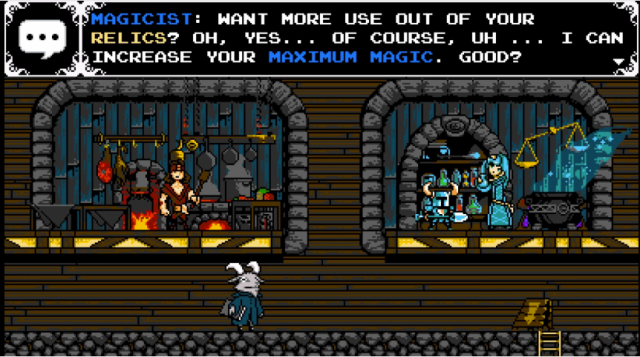 Dando uns upgrades no personagem e tal...