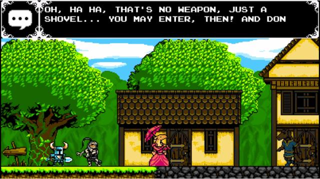 Senhor cavaleiro, não queremos confusão em nosso vilarejo. Por favor, guarde sua arm... ah, é só uma pá! Então beleza, entra ae, parça!