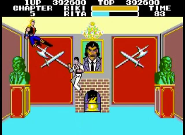 Riki versus Rita. Um dos chefes que mais dá trabalho no jogo.