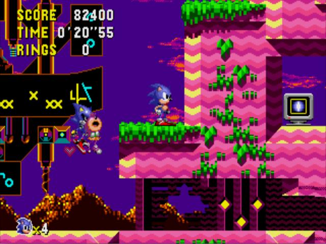 Metal Sonic levando a Sal... digo... Amy embora.