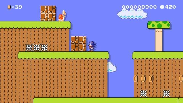 Fala a verdade, vai? Muito louco jogar com o Sonic nas fases do Mario!