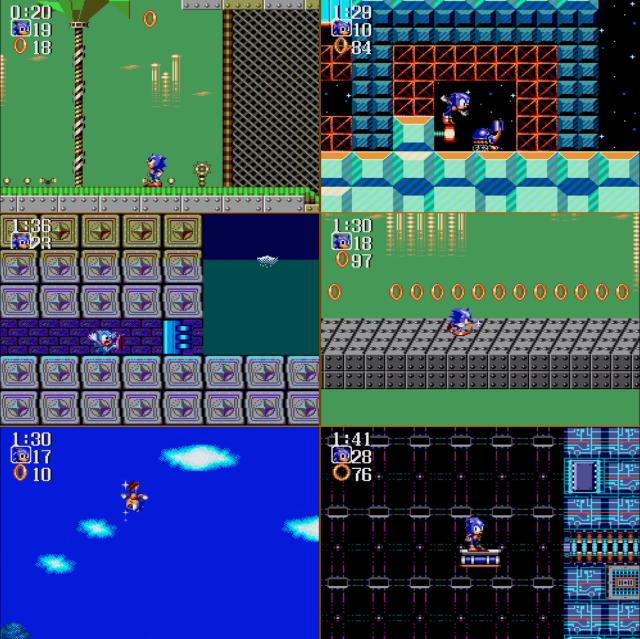 Algumas animações do personagem durante o jogo.