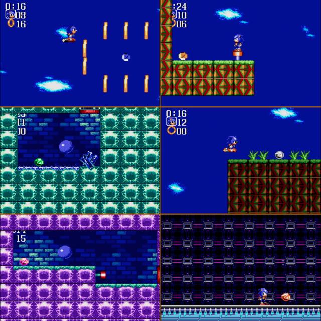 Todas as Chaos Emeralds do jogo. São seis no total e a última é obtida ao derrotar o Dr. Robotnik na última batalha.