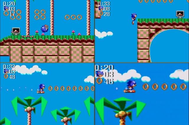 Os Rocket Shoes. A última imagem é da versão de Game Gear, enquanto as outras são do Master System.