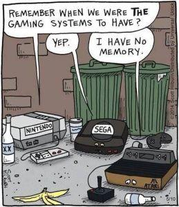 Liga não, Atari 2600, pelo menos você não sofre nostalgia.