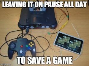 Save State antigamente gastava uma energia lascada, não?