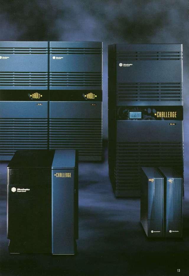 Computadores Challenge, da Silicon Graphics. Reza a lenda que foram usados os modelos L e XL para renderização das imagens de DKC.