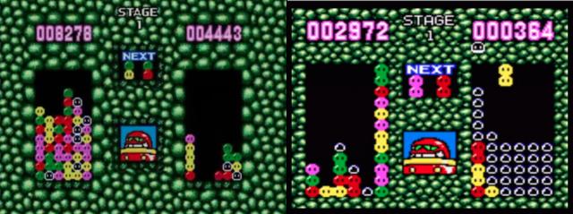 Versões de Master System (esq.) e Game Gear (dir.).